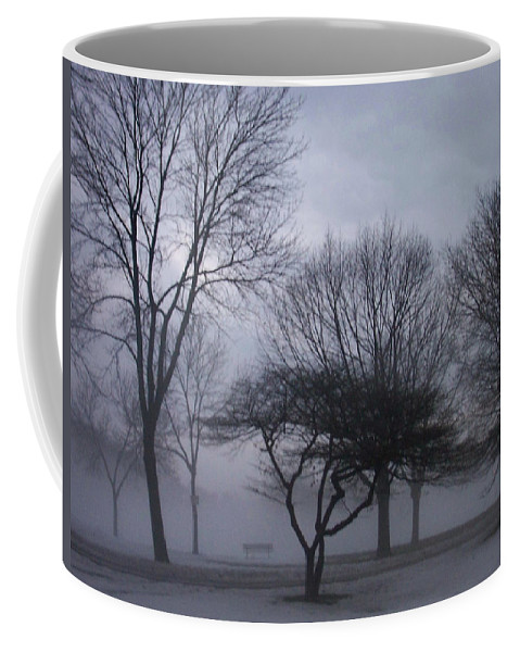 January Coffee Mug featuring the photograph January Fog 6 by Anita Burgermeister