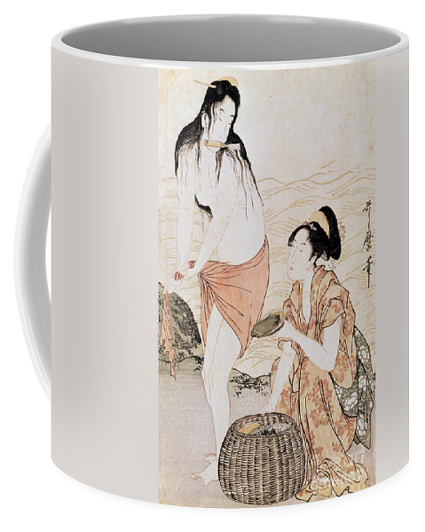 1797 Coffee Mug featuring the photograph Japan: Abalone Divers by Granger