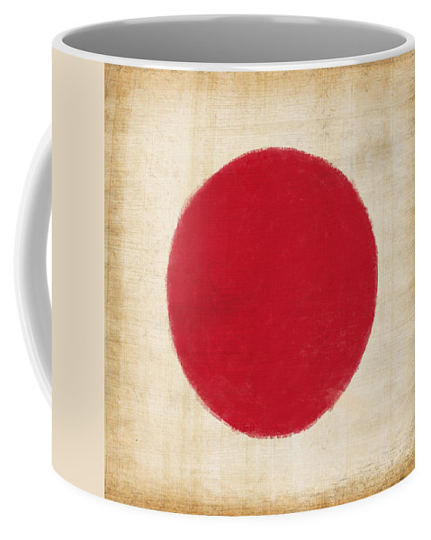 Background Coffee Mug featuring the painting Japan Flag by Setsiri Silapasuwanchai