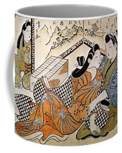 1685 Coffee Mug featuring the photograph Japan: Lovers by Granger