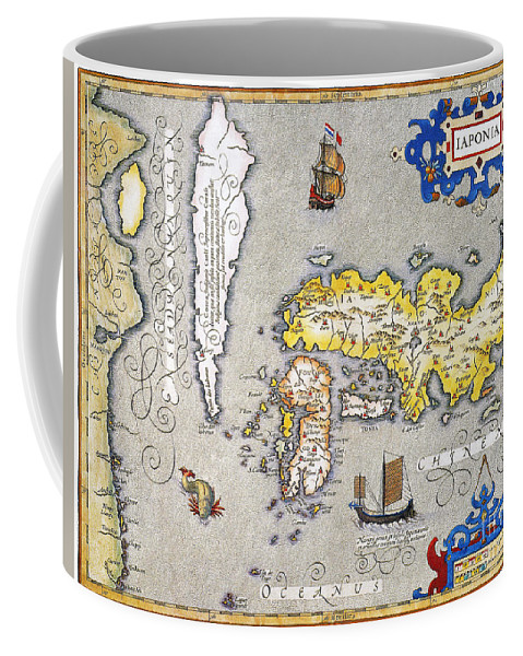 1606 Coffee Mug featuring the photograph Japan: Map, 1606 by Granger