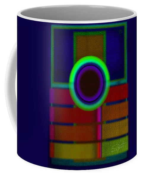 Portal Coffee Mug featuring the painting Japanese Blue by Charles Stuart