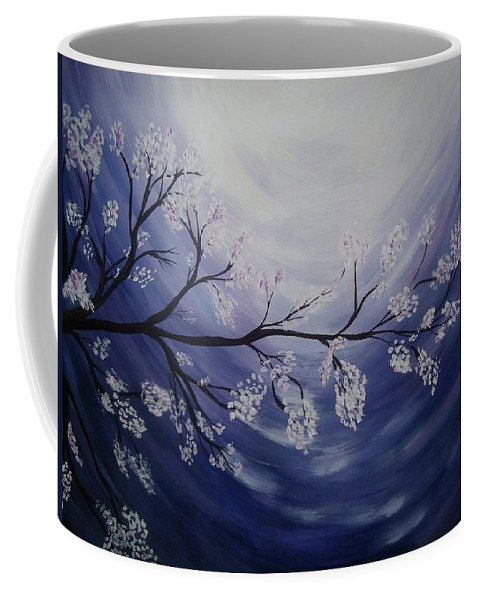 Purple Coffee Mug featuring the painting Japanese Cherry Blossom by Katie Slaby