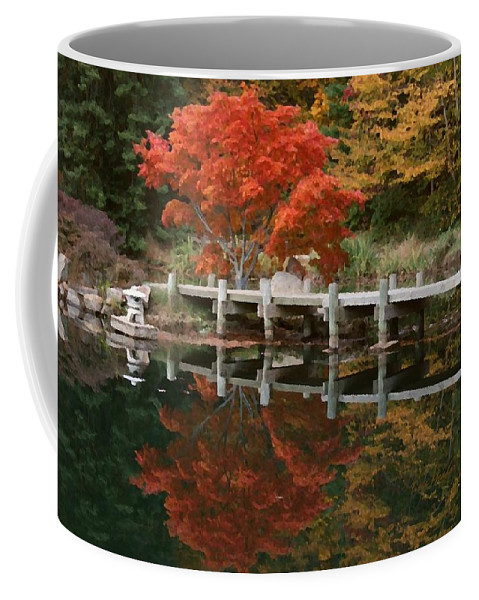 Maymont Coffee Mug featuring the photograph Japanese Reflection by Tina Meador