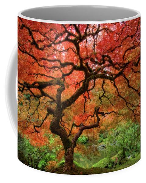 Horizontal Coffee Mug featuring the photograph Japenese Garden, Portland by Jesse Estes