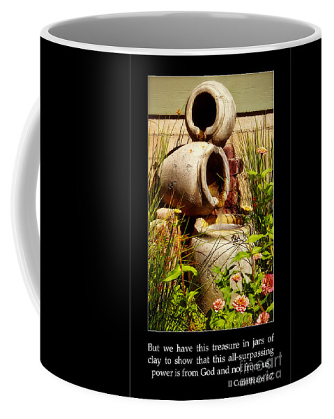 Jars Of Clay Coffee Mug featuring the photograph Jars Of Clay by Priscilla Burgers