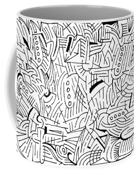 Mazes Coffee Mug featuring the drawing Jason by Steven Natanson