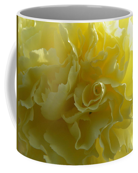 Nature Coffee Mug featuring the photograph Yellow Waves by Shannon Turek