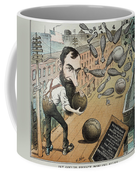 1882 Coffee Mug featuring the photograph Jay Gould Cartoon, 1882 by Granger