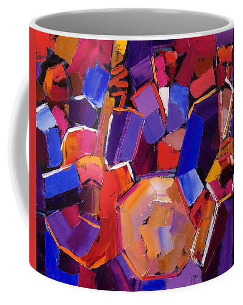 Jazz Coffee Mug featuring the painting Jazz Angles Two by Debra Hurd