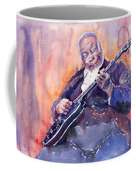 Jazz Coffee Mug featuring the painting Jazz B.b. King 03 by Yuriy Shevchuk