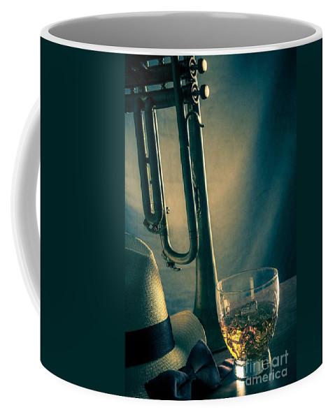 Blues Coffee Mug featuring the photograph Jazz Club Still Life by Carlos Caetano