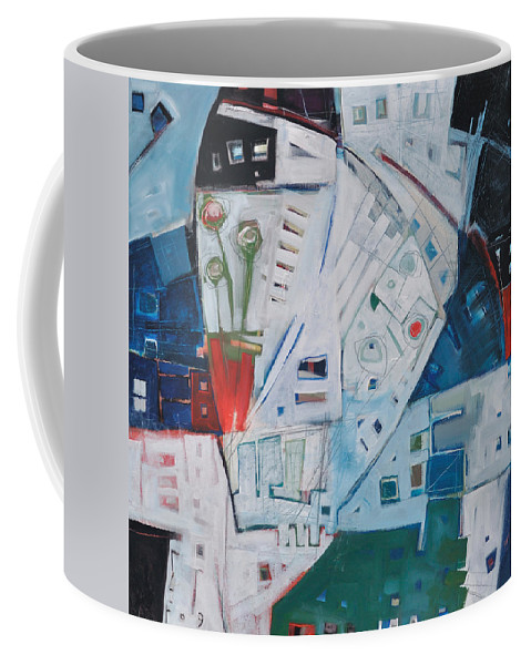 Jazz Coffee Mug featuring the painting Jazz In Bloom by Tim Nyberg