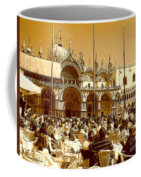 Venice Coffee Mug featuring the photograph Jazz In Piazza San Marco by Ramona Matei