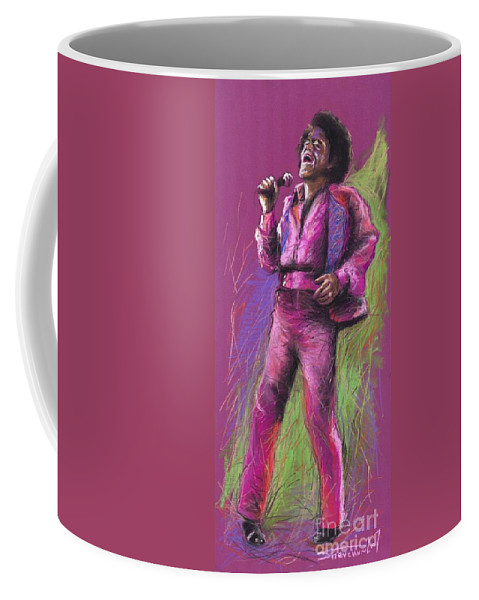 Jazz Coffee Mug featuring the painting Jazz James Brown by Yuriy Shevchuk
