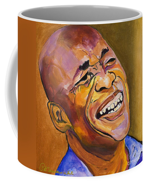 Portraits Coffee Mug featuring the painting Jazz Man by Pat Saunders-White