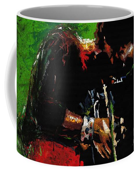 Jazz Coffee Mug featuring the painting Jazz Miles Davis 1 by Yuriy Shevchuk