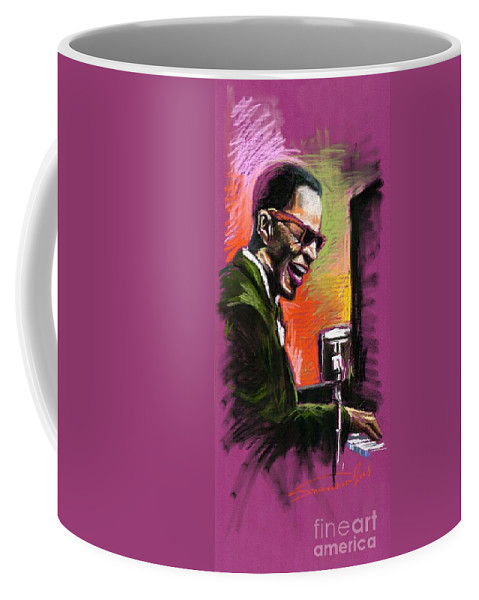Coffee Mug featuring the painting Jazz. Ray Charles.2. by Yuriy Shevchuk