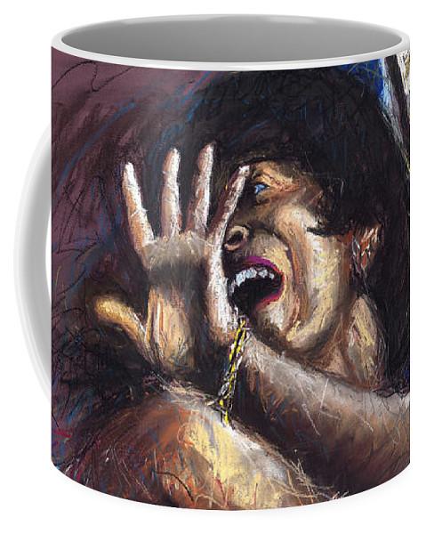 Jazz Coffee Mug featuring the painting Jazz Song 1 by Yuriy Shevchuk