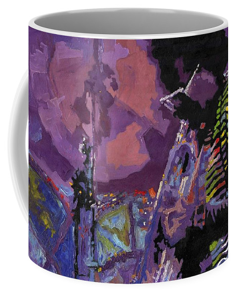 Jazz Coffee Mug featuring the painting Jazz.miles Davis.4. by Yuriy Shevchuk
