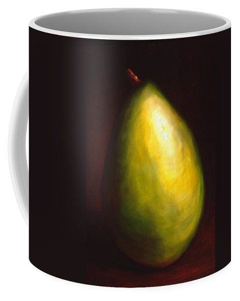 Pear Coffee Mug featuring the painting Jeana by Shannon Grissom