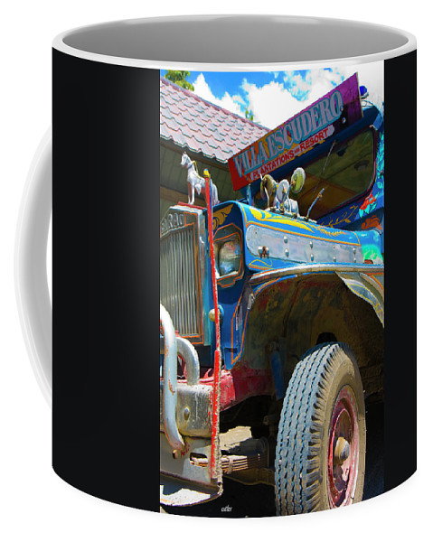 Philippines Coffee Mug featuring the photograph Jeepney by Betsy Knapp