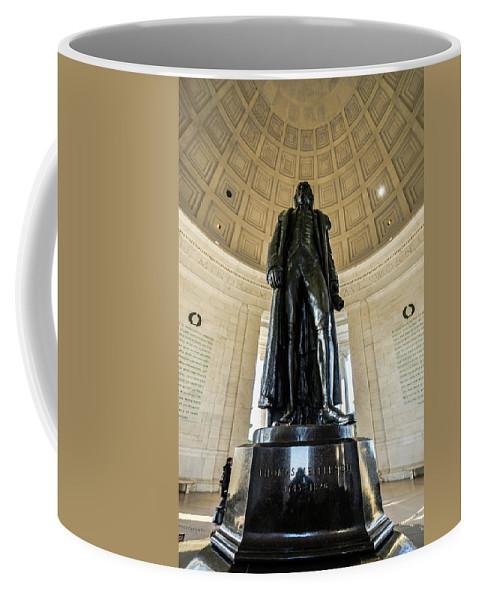Jefferson Coffee Mug featuring the photograph Jefferson Memorial Lll by Stewart Helberg