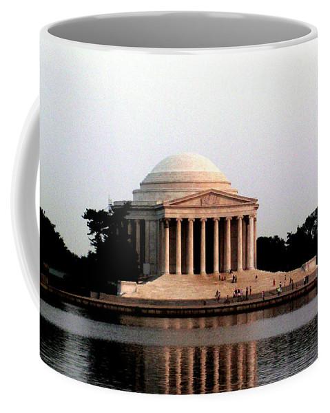 Jefferson Coffee Mug featuring the photograph Jefferson Monument After Sunset by Douglas Barnett