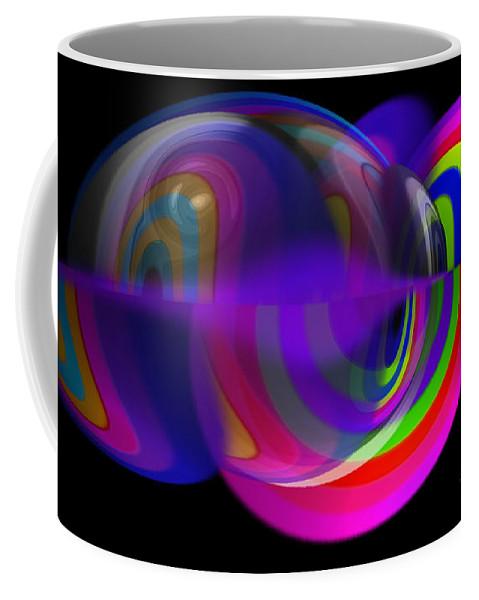 Jellyfish Coffee Mug featuring the painting Jellyfish by Charles Stuart