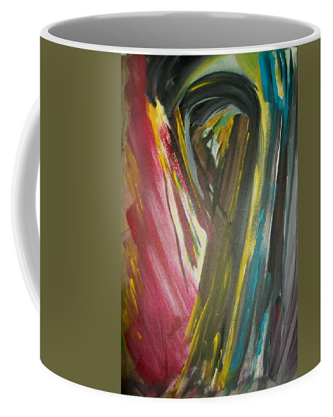 Black Coffee Mug featuring the painting Jennifer by Laurette Escobar