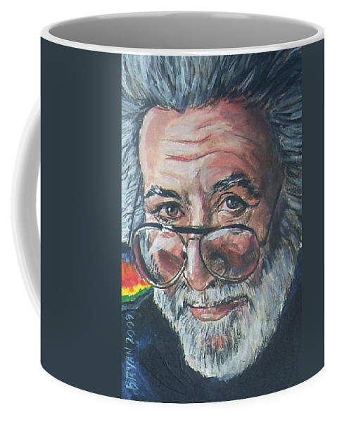 Jerry Garcia Coffee Mug featuring the painting Jerry Garcia by Bryan Bustard