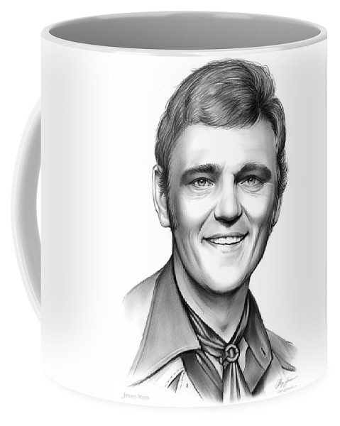 Jerry Reed Coffee Mug featuring the drawing Jerry Reed by Greg Joens