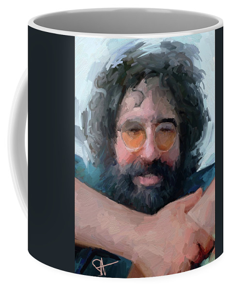 Jerry Coffee Mug featuring the digital art Jerry by Scott Waters