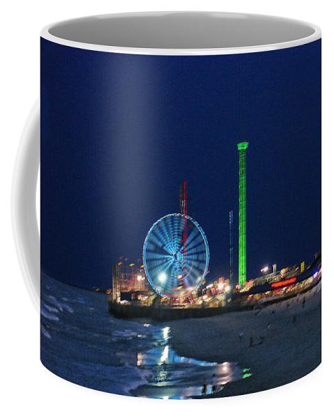Landscape Coffee Mug featuring the digital art Jersey Shore by Steve Karol
