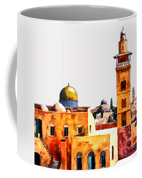Jerusalem Coffee Mug featuring the photograph Jerusalem Domes And Minarets by Munir Alawi