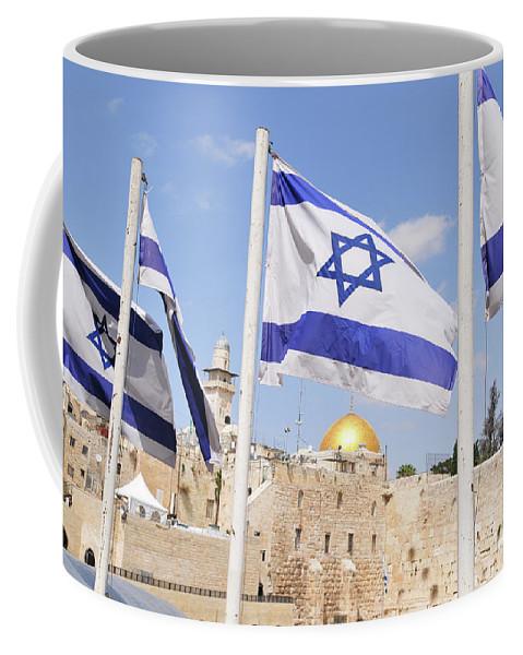 Jerusalem Coffee Mug featuring the photograph Jerusalem Wailing Wall by Ohad Shahar