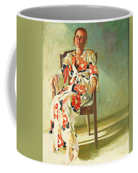 Girl Coffee Mug featuring the painting Jess by Rick Nederlof