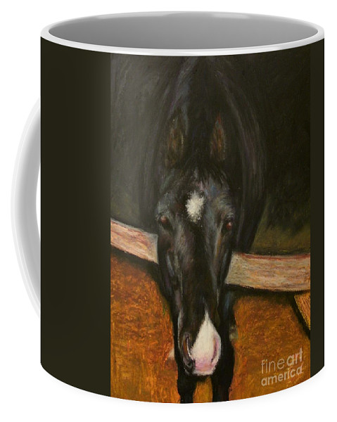 Horse Coffee Mug featuring the painting Jesse by Frances Marino