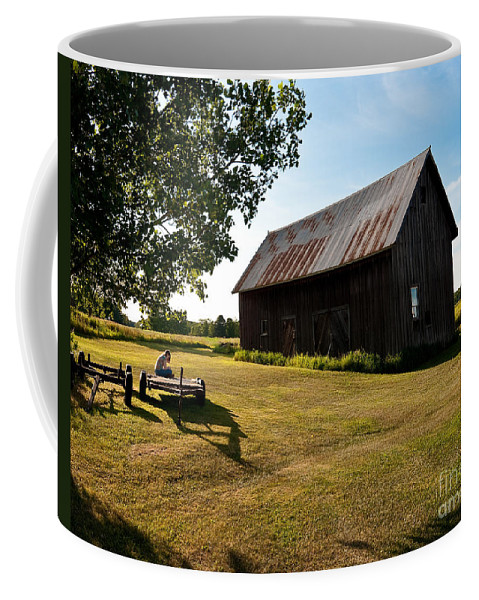 Barn Coffee Mug featuring the photograph Jesse's World by Steven Dunn