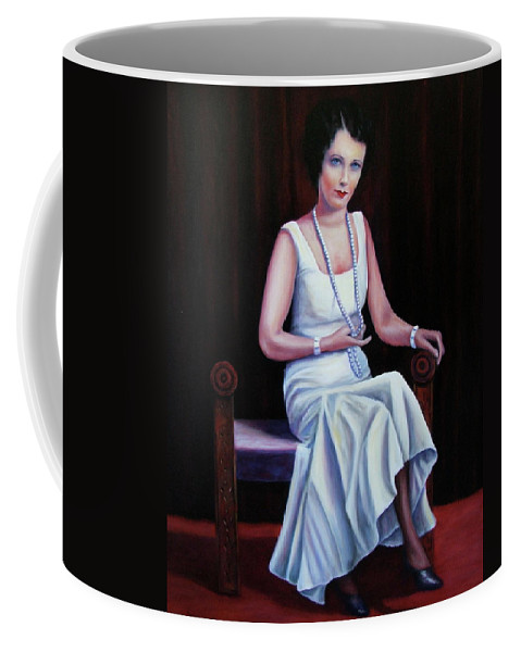 Portrait Coffee Mug featuring the painting Jessie Mckay Lane by Shannon Grissom