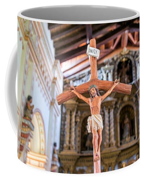 San Ramon Coffee Mug featuring the photograph Jesus On The Cross In San Ramon, Bolivia by Jess Kraft