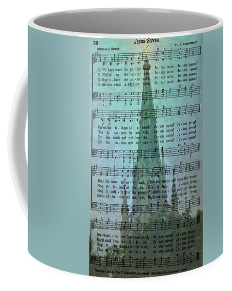 Hymns Coffee Mug featuring the photograph Jesus Saves by Kim Blaylock