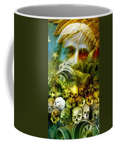 Jesus Coffee Mug featuring the photograph Jesus Wept by Skip Hunt