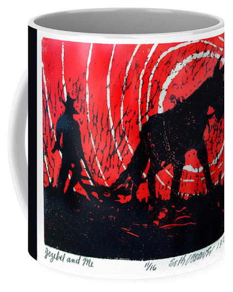 Jezebel And Me Coffee Mug featuring the relief Jezebel And Me by Seth Weaver