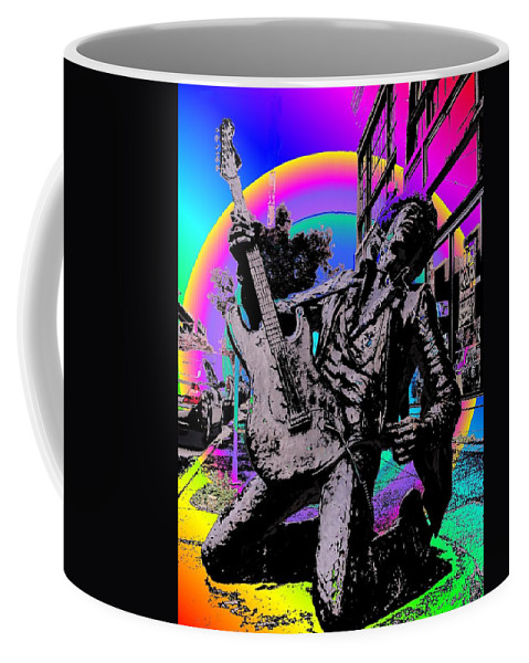Seattle Coffee Mug featuring the photograph Jimi Hendrix by Tim Allen