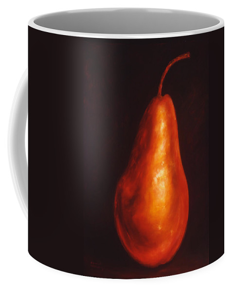 Pear Coffee Mug featuring the painting Joanne by Shannon Grissom