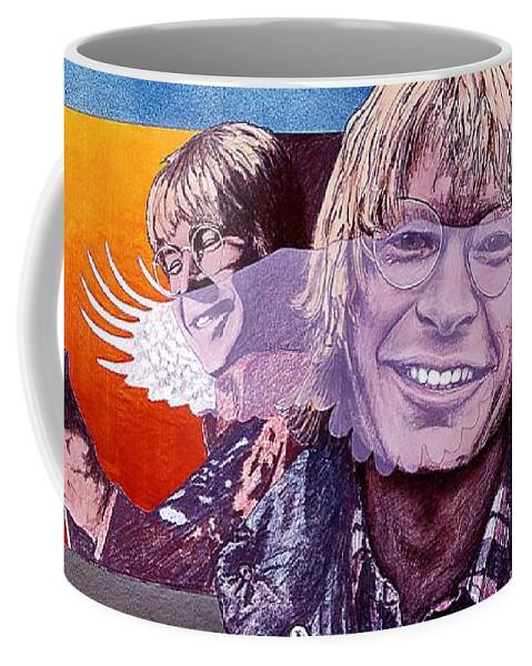 John Denver Coffee Mug featuring the mixed media John Denver by John D Benson