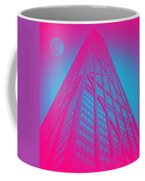 Architecture Coffee Mug featuring the painting John Hancock Building In Chicago 1 by Celestial Images