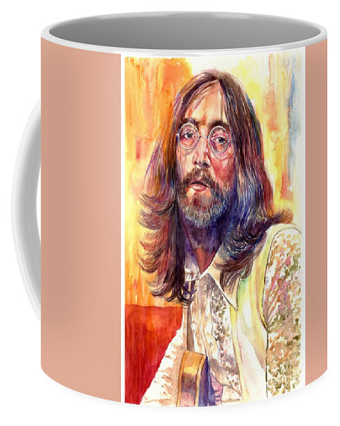 John Lennon Coffee Mug featuring the painting John Lennon watercolor by Suzann Sines
