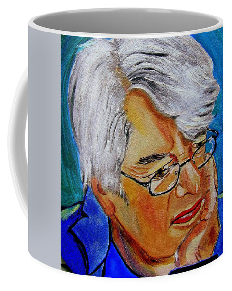 People Coffee Mug featuring the painting John Sothcott Our Mutual Friend by Rusty Gladdish